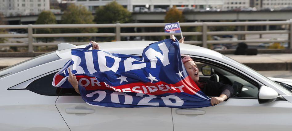 Anhänger von Joe Biden in Atlanta (Georgia)