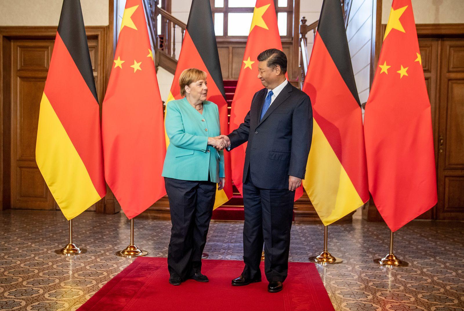 Merkel, Xi Jinping