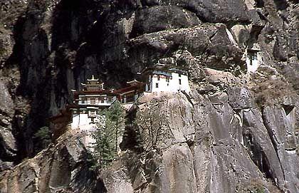 Tigernest-Kloster Taktshang Goemba: Jahrhunderte lang war Bhutan von der Außenwelt abgeschottet