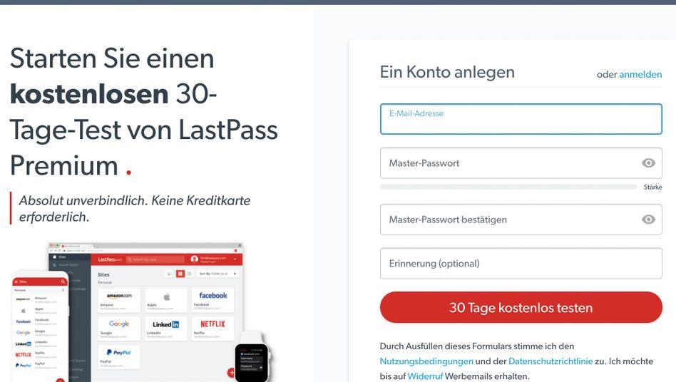 Werbeseite für LastPass Premium: Der Dienst will mehr Nutzer zu zahlenden Kunden machen