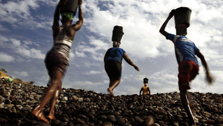 Sandabbau auf Kap Verde
