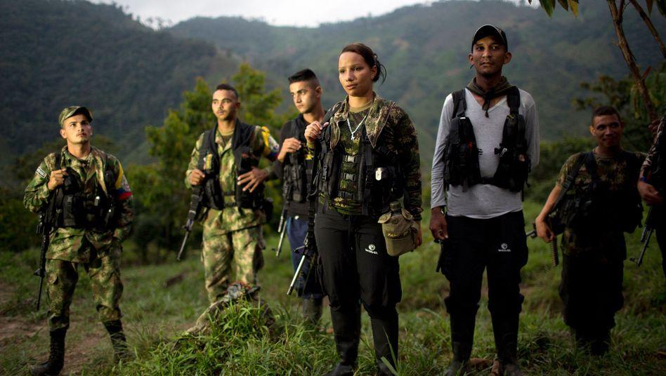 Rebellen der Farc im Dschungel der Region Antioquia, Anfang 2016