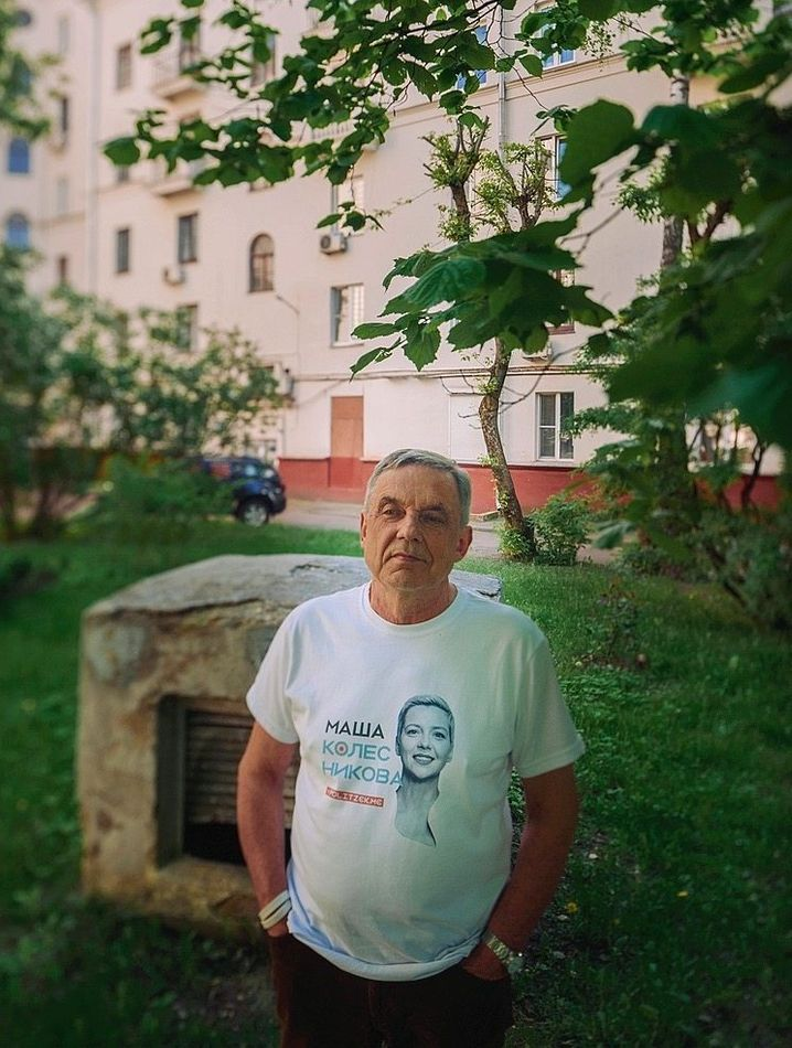 Alexander Kalesnikav: His daughter, the well-known opposition activist Maria Kalesnikava, has been locked up for the last nine months.