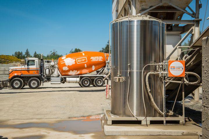 Die Firma Carbon Cure will überschüssiges CO₂ nutzen, um den Zementanteil im Beton zu verringern