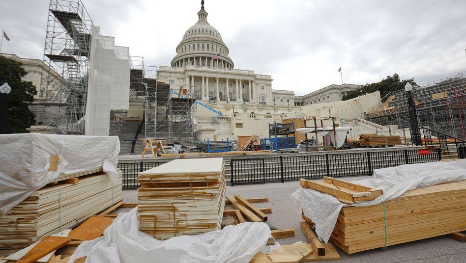 Baustelle für die Vereidigungszeremonie des kommenden US-Präsidenten