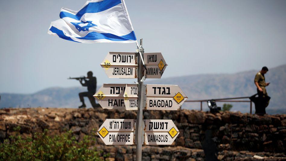 Israelischer Posten auf den besetzten Golanhöhen