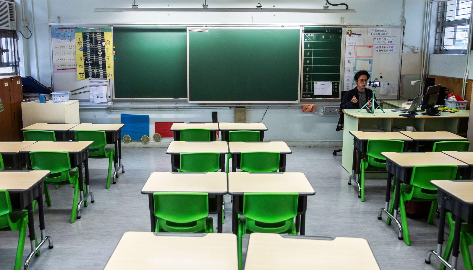 HONG KONG-CHINA-HEALTH-VIRUS-CHILDREN-EDUCATION