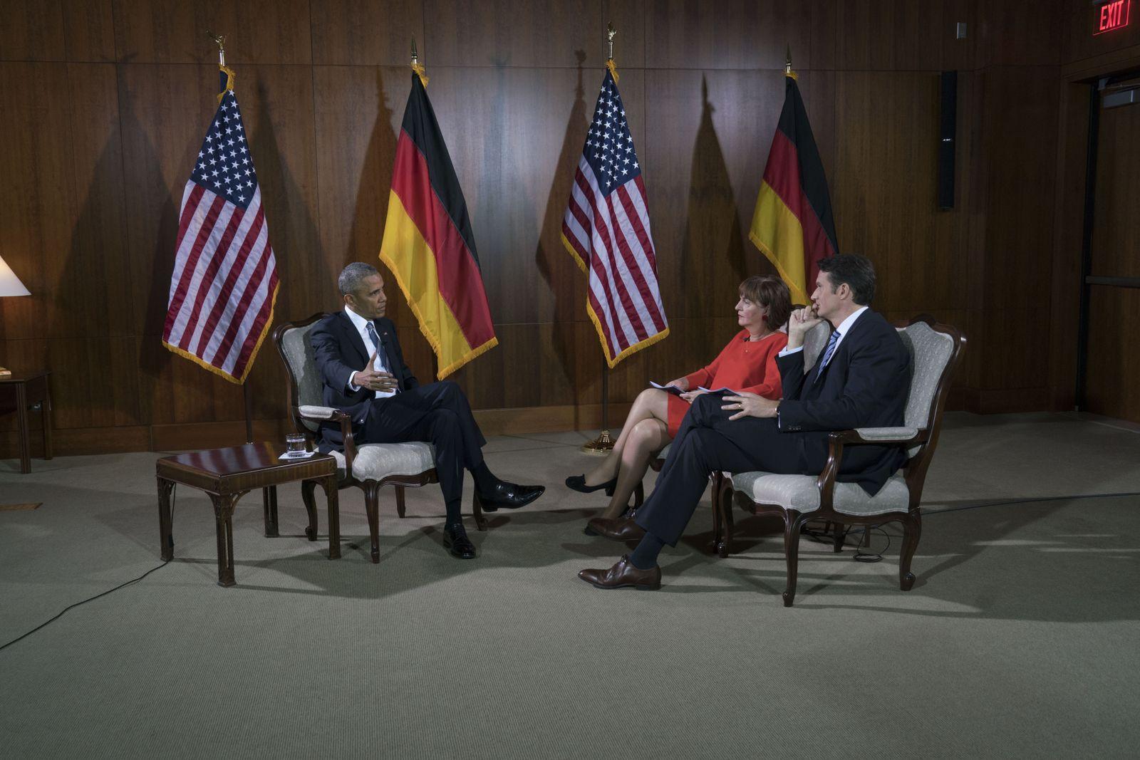 EINMALIGE VERWENDUNG Interview / Obama / Mikich / Brinkbäumer