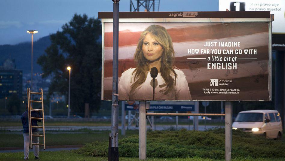 Werbeplakat in Zagreb