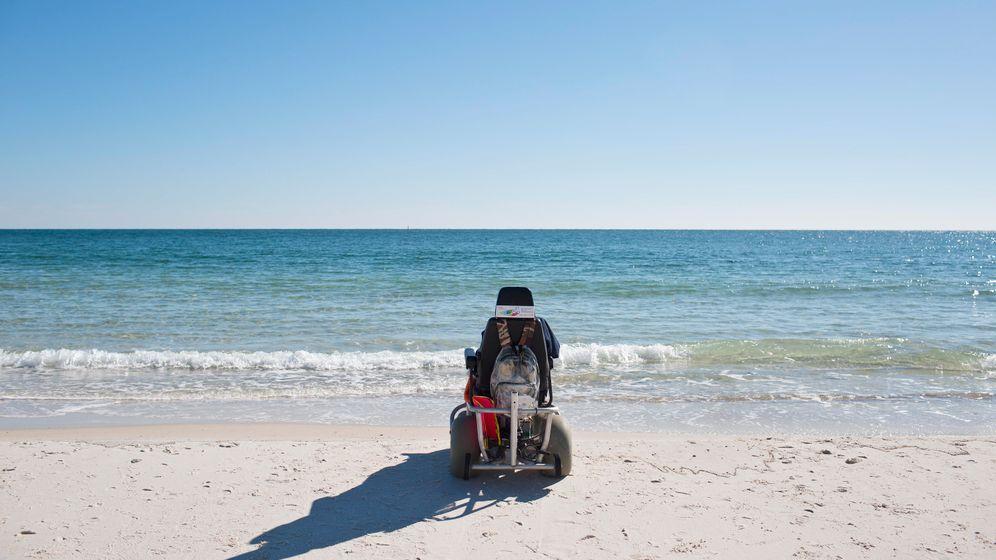 Ausflug an den Golf von Mexiko: 100-Jährige sieht zum ersten Mal das Meer