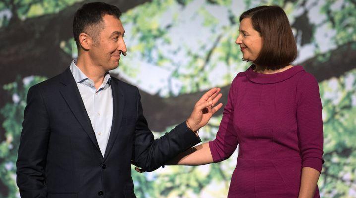 Cem Özdemir und Katrin Göring-Eckardt auf dem Bundesparteitag 2017. Damals war Özdemir noch Parteivorsitzender.