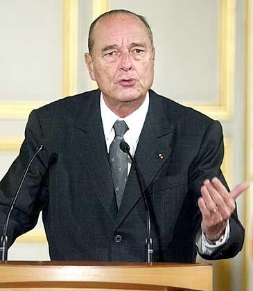 """Jacques Chirac: """"Frankreich ist kein pazifistisches Land"""""""