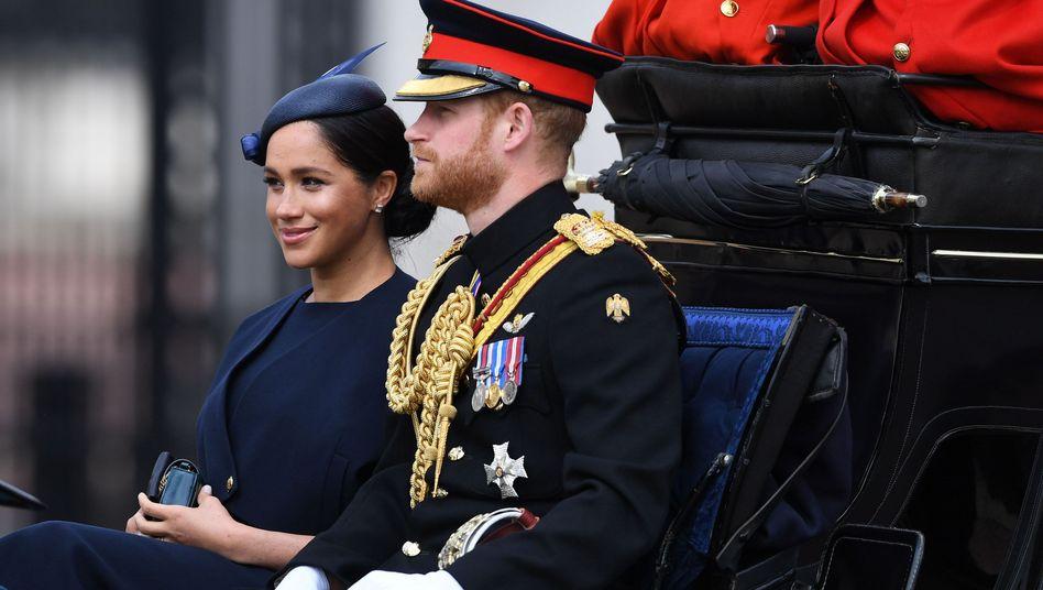 Prinz Harry and Herzogin Meghan Anfang Juni in London