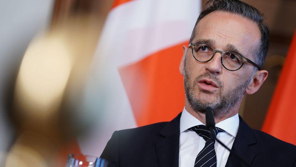 """Außenminister Heiko Maas (SPD) auf einer Pressekonferenz in Berlin vor zwei Wochen: """"Bündnis der Hilfsbereiten"""""""
