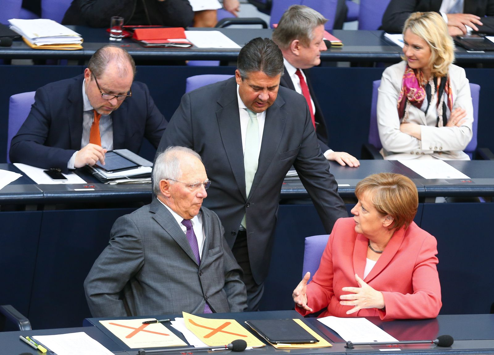 Merkel/ Schäuble/ Gabriel