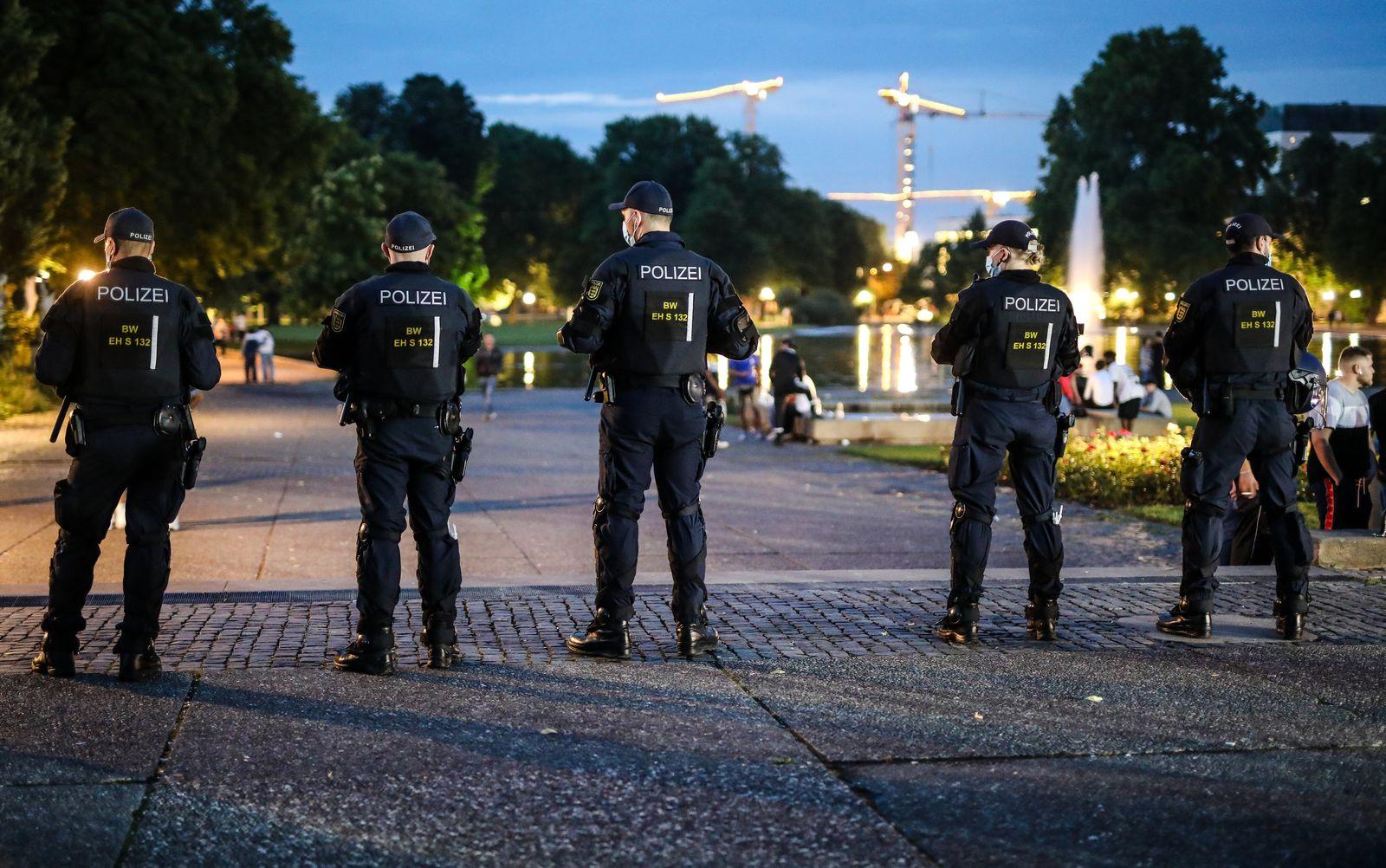 Polizeikontrolle in Stuttgart