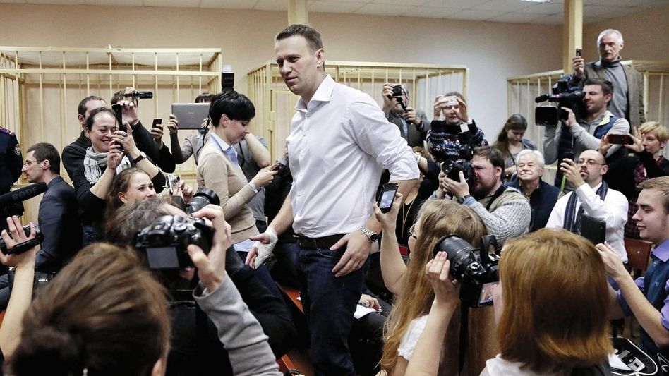 Blogger Nawalny vor Gerichtsverhandlung in Kirow: »Putin ist ein Dieb«