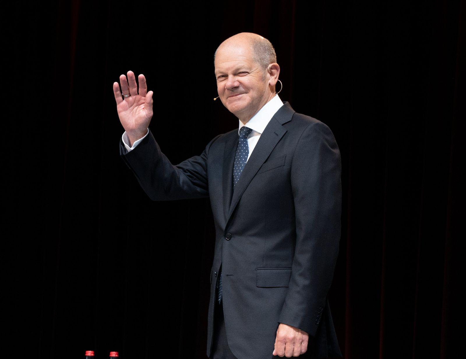Wahlkampf SPD - Olaf Scholz in Heilbronn