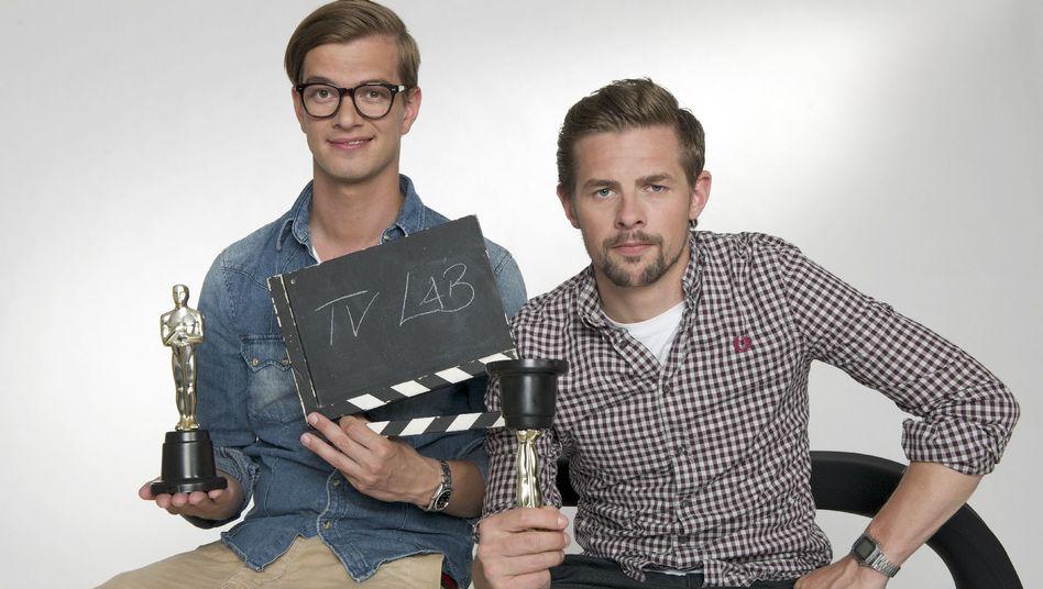 Joko (links) und Klaas stellen im TVLab-Studio die Formate und ihre Macher vor