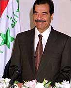 """Saddam Hussein in glücklicheren Tagen: """"Gewiss, Majestät!"""""""