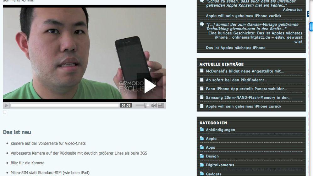 Gizmodos iPhone 4G: Prototyp oder Fake?