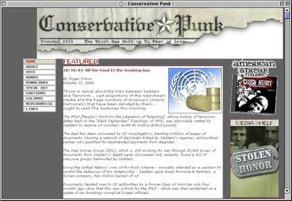 Website von conservativepunk.com: Virtuelle Wahlhelfer
