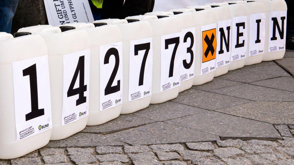 Zahl der gesammelten Unterschriften gegen die Wiederzulassung von Glyphosat