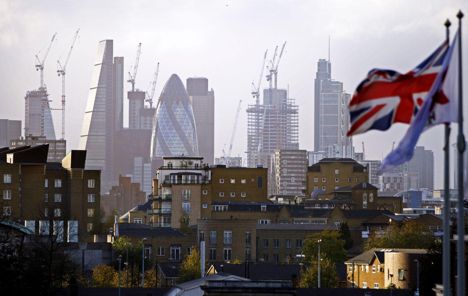 London Skyline Banken / Bankenviertel / Konjunktur England