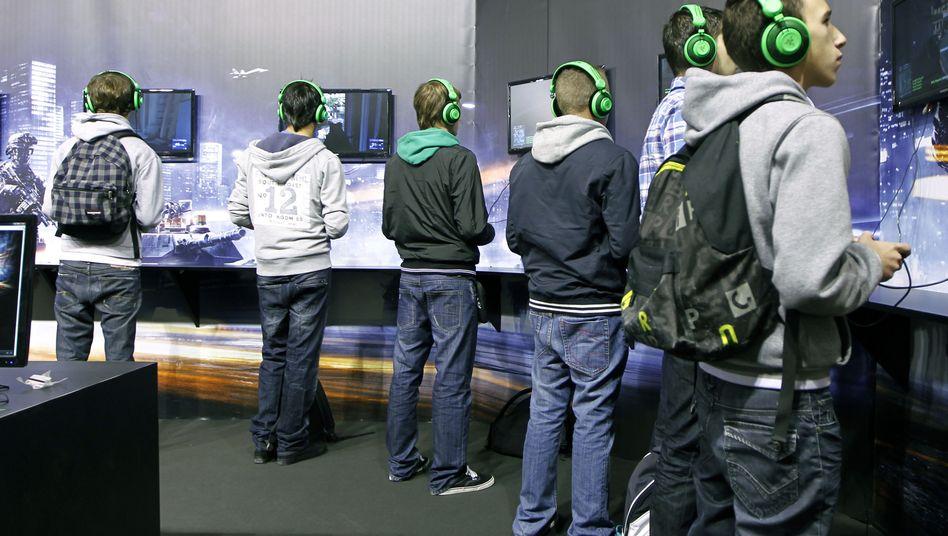 Jugendliche auf einer Spielemesse: Die Games Week dauert sechs Tage
