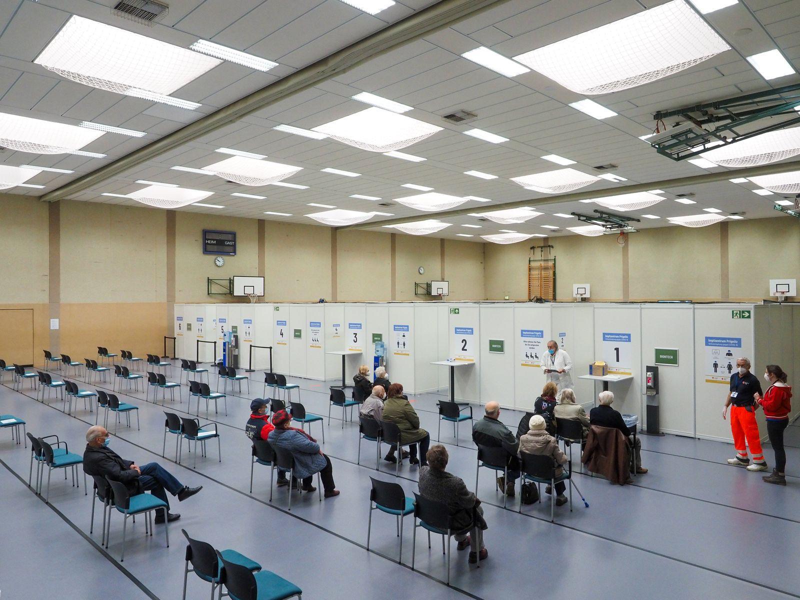 Corona-Impfzentrum Prignitz eröffnet