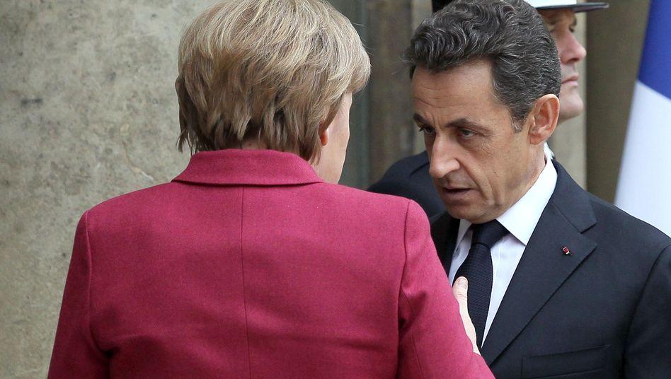 "Kanzlerin Merkel, Präsident Sarkozy: ""Fehlende Reife"""