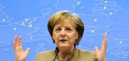 Chancellor Angela Merkel, brimming in Brussels.
