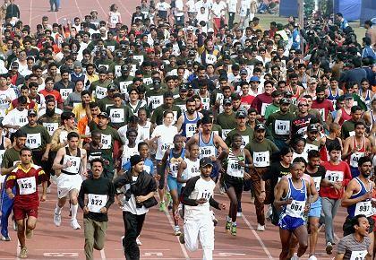 Läufer in Pakistan: Voller Einsatz