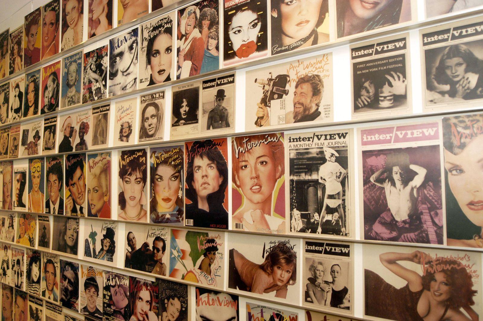 EINMALIGE VERWENDUNG Interview/ Magazin/ Cover/ Andy Warhol
