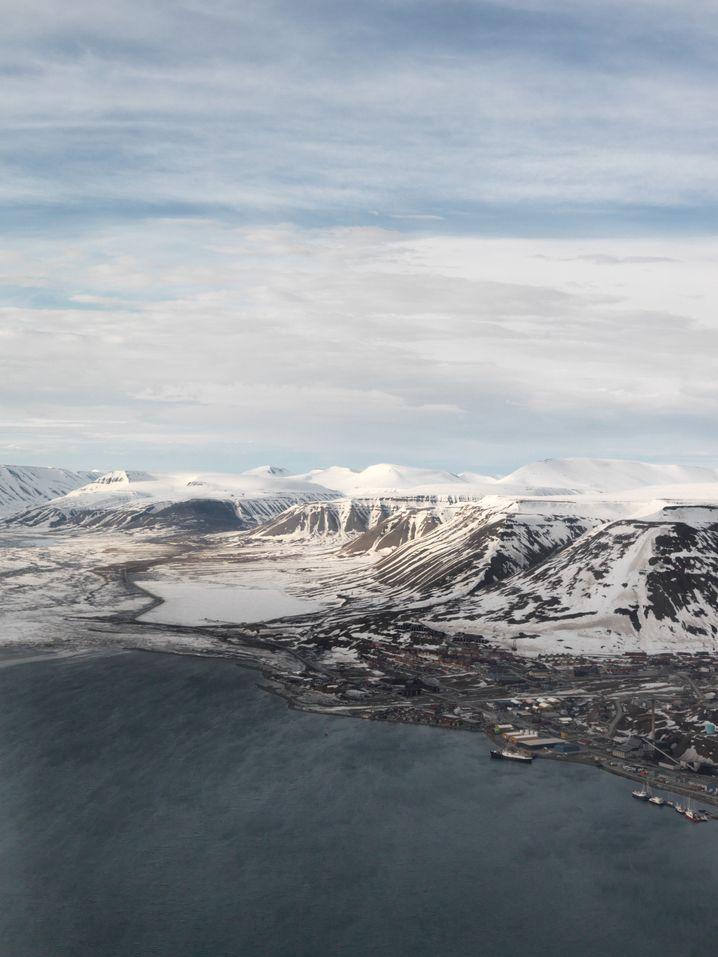 Ortschaft Longyearbyen auf Spitzbergen