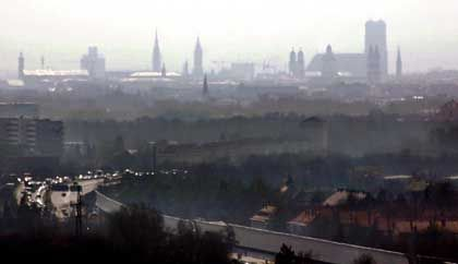 Munich is one of at least two German cities that has already exceeded the annual EU air pollution limits.