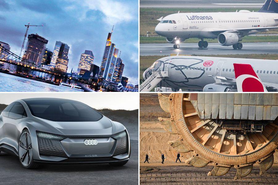 MONTAGE für Panorama-Asset V2 ¿ BDT/ Garzweiler - AFP | Frankfurt / Banken / Skyline / Banken-Viertel - AP | Niki / Lufthansa - DPA | Audi Aicon - AUDI