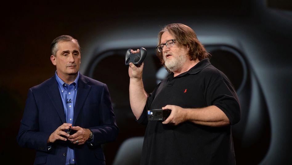 Valve-Ikone Gabe Newell (rechts): Valve zählt zu den bekanntesten Spielestudios weltweit