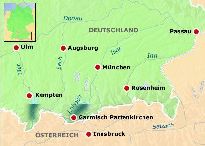 Hochwassergebiete in Süddeutschland: Land unter in Bayern