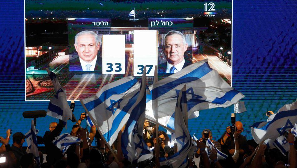 Netanyahu gegen Gantz - ein offenes Rennen