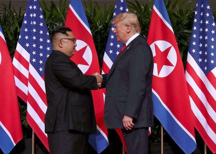 Kim und Trump im Juni 2018 in Singapur