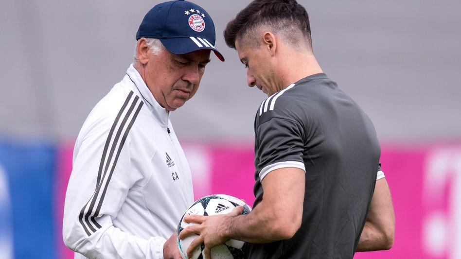 Lewandowski mit Ex-Trainer Ancelotti