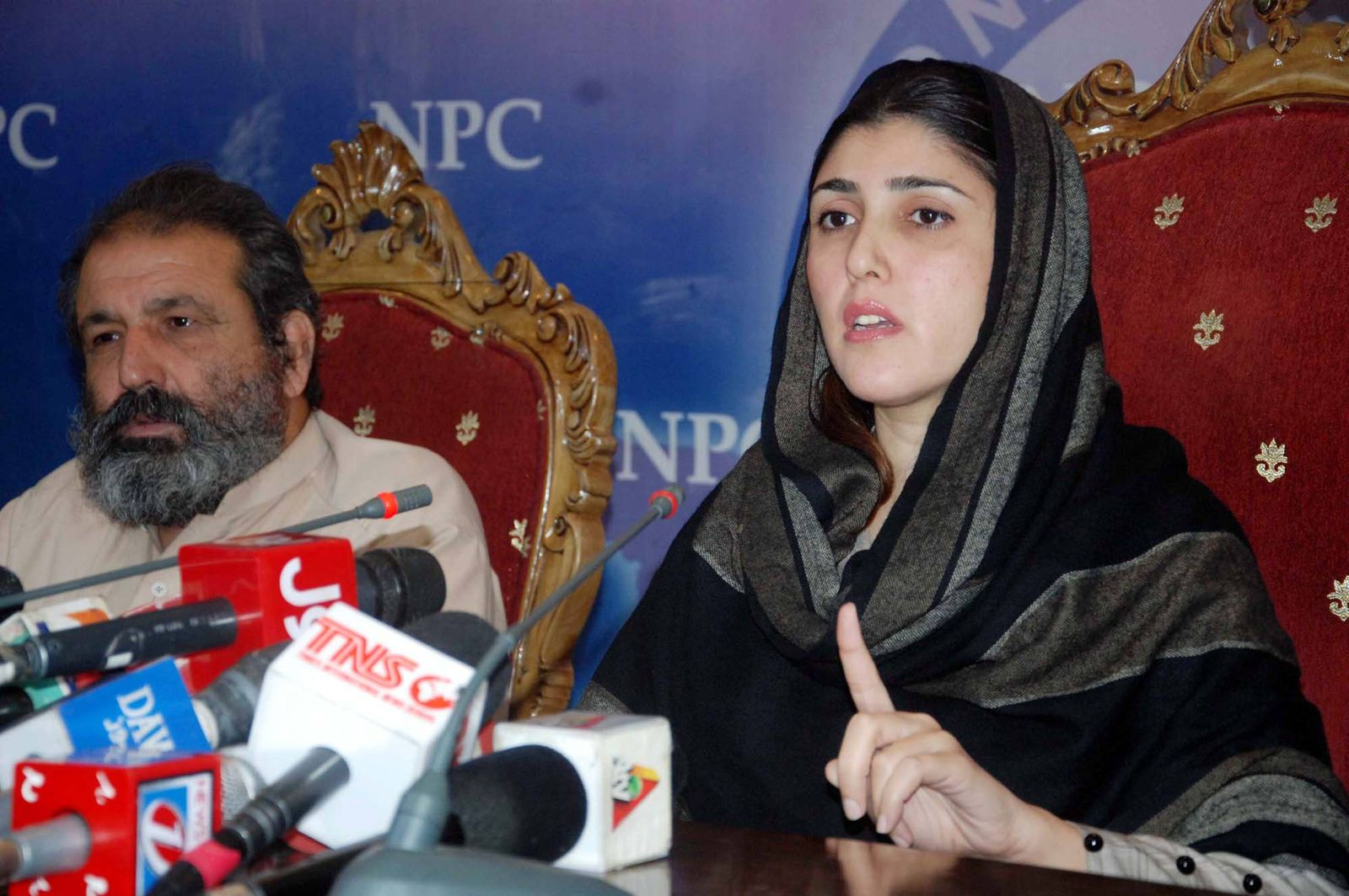November 16 2017 Pakistan ISLAMABAD PAKISTAN NOV 15 Ayesha Gulalai Wazir addresses to media