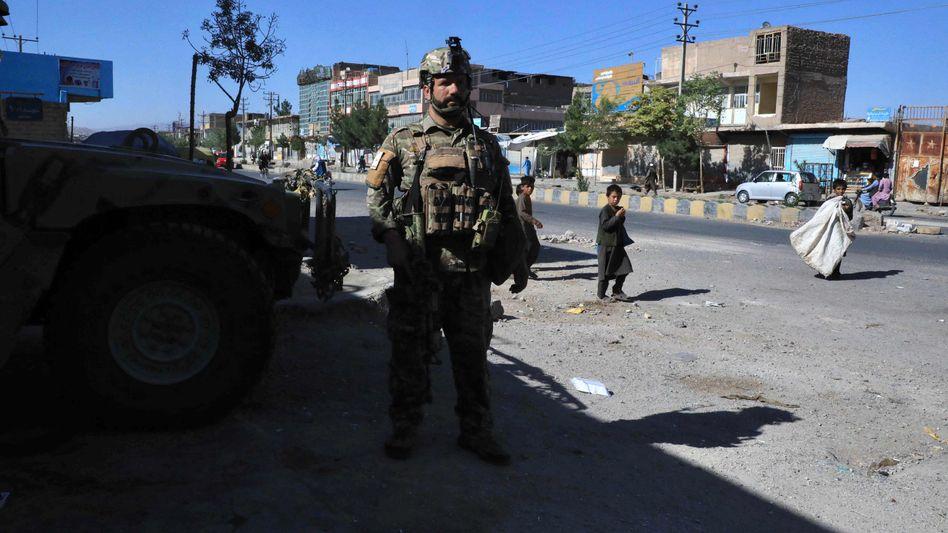 Afghanische Sicherheitskräfte am Donnerstag in Herat