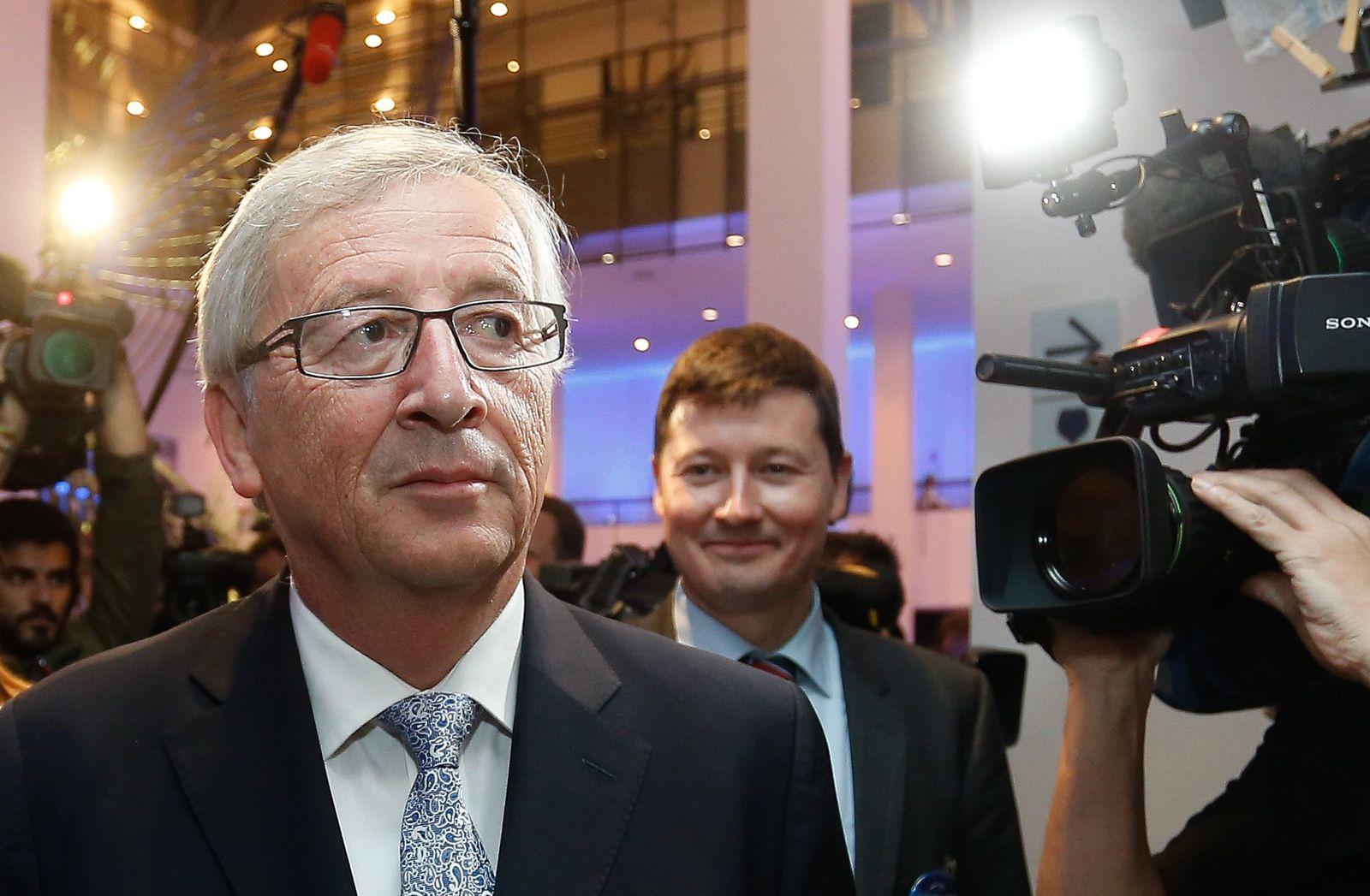 Juncker mit Wahlkampfmanager Selmayr