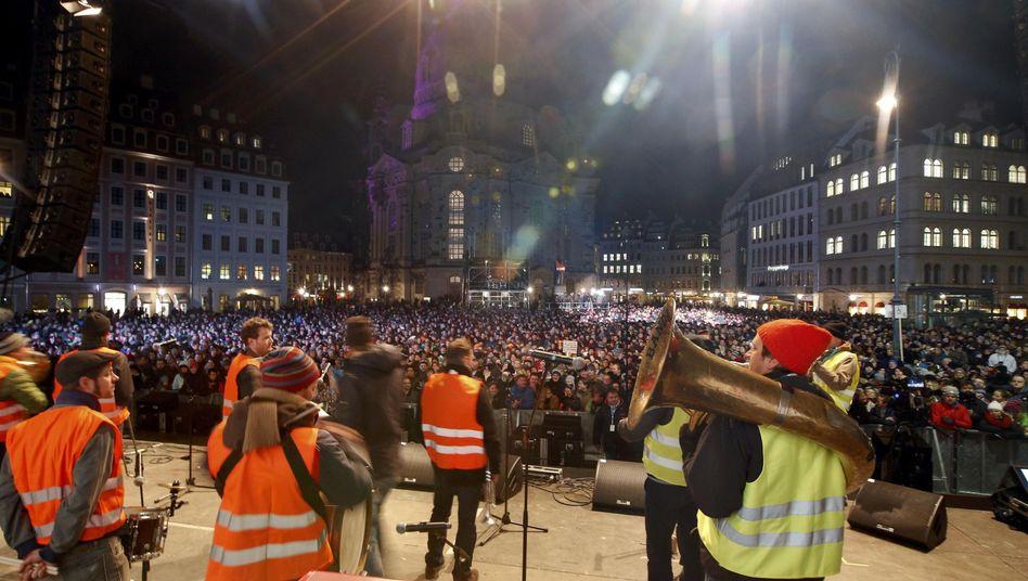 Anti-Pegida-Konzerte in Dresden: Mit Musik gegen denMuff