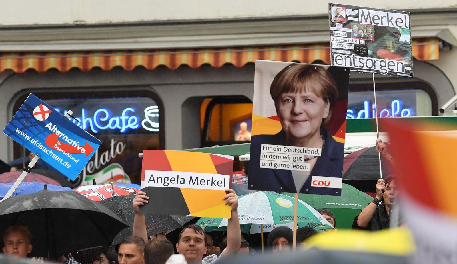 Wahlkampf/ CDU/ Merkel/ Protest