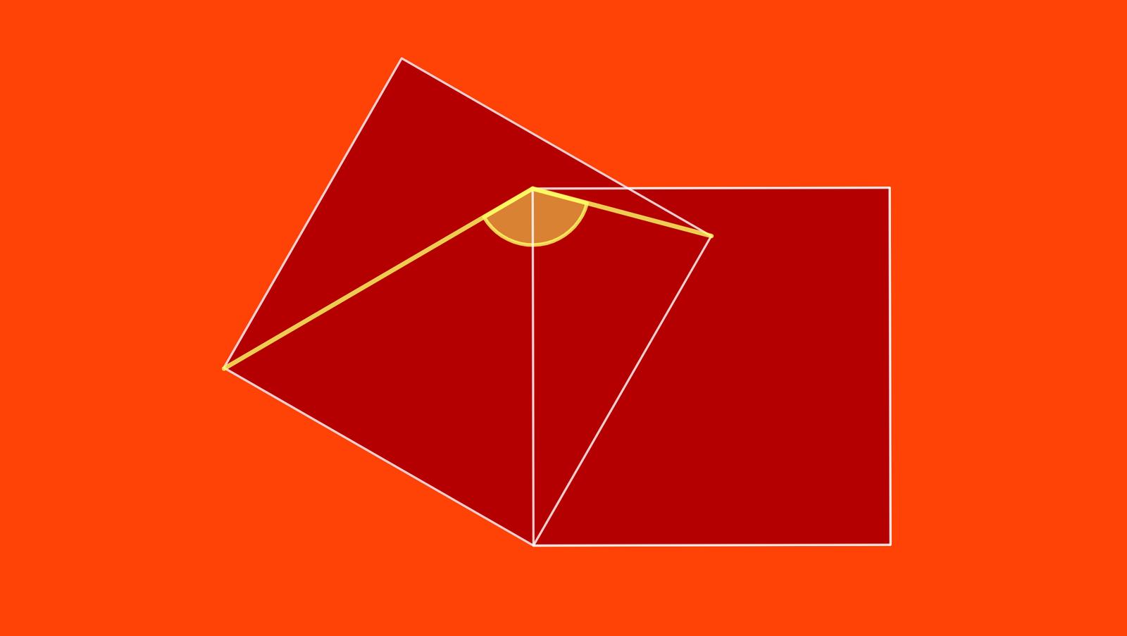 Winkel zwei Quadrate Aufgabe