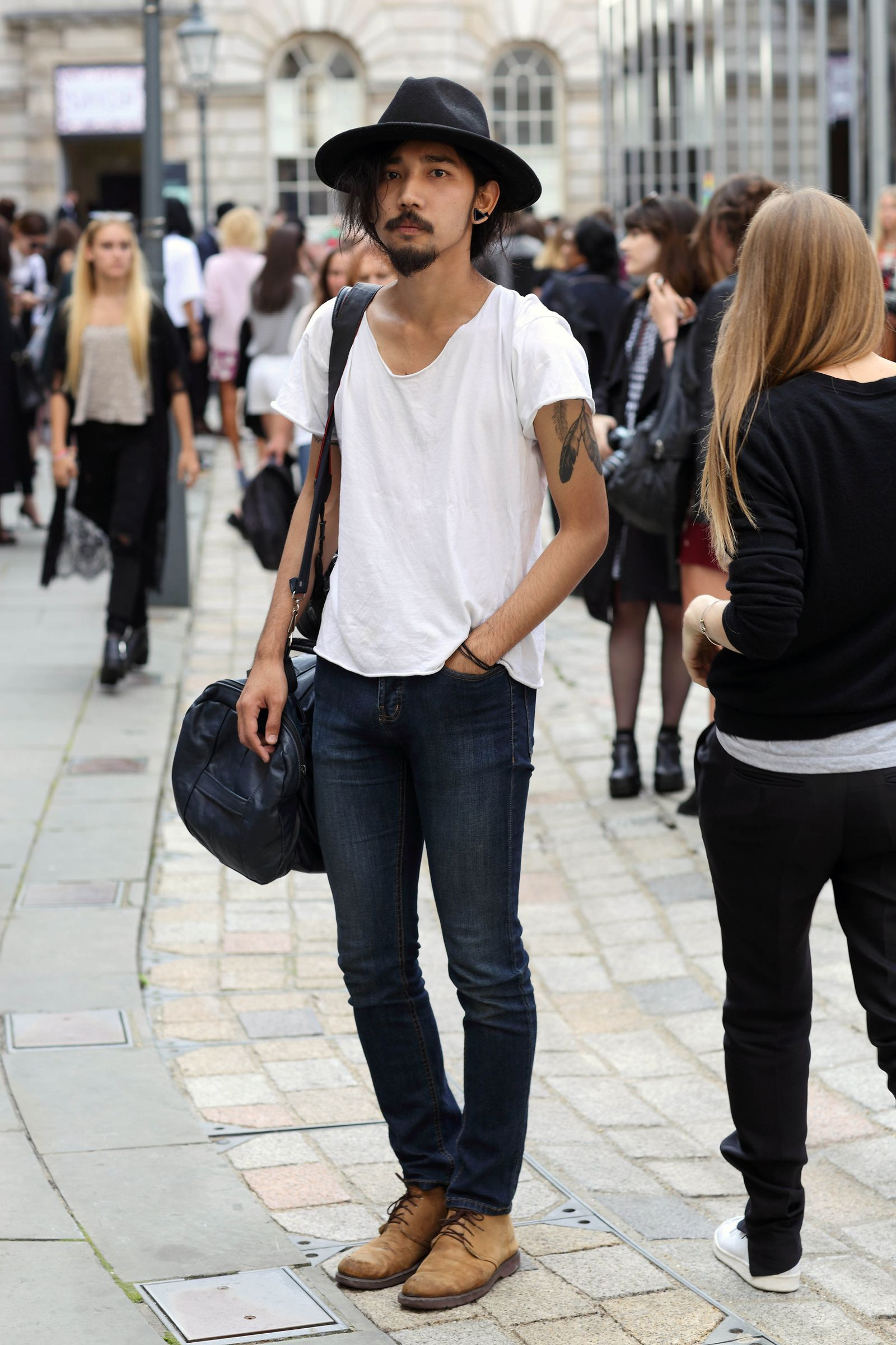 EINMALIGE VERWENDUNG Fashion London/ Fashion Week London/ Napat