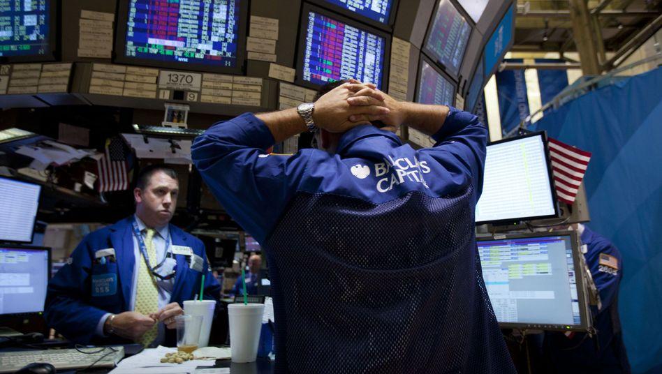 Händler an der New York Stock Exchange: Panikartige Verkäufe an den Aktienmärkten